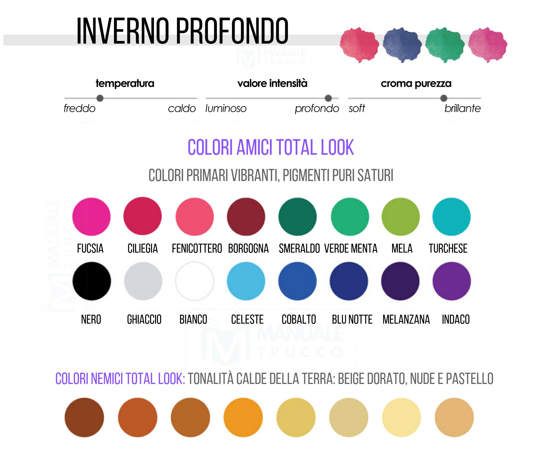 Colori Che Stanno Bene Insieme colori make-up stagione inverno profondo - manuale trucco la